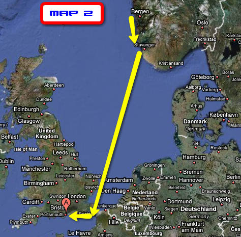 Up And Coming Areas In London >> BergenSailing.no > Bergen (Norway) to Mallorca April 2009 - Legs, ports, dates, and distances